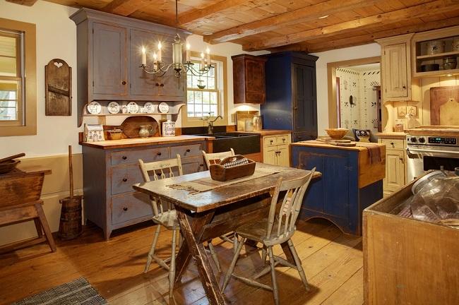 Distribución de muebles en el diseño de cocinas rústicas