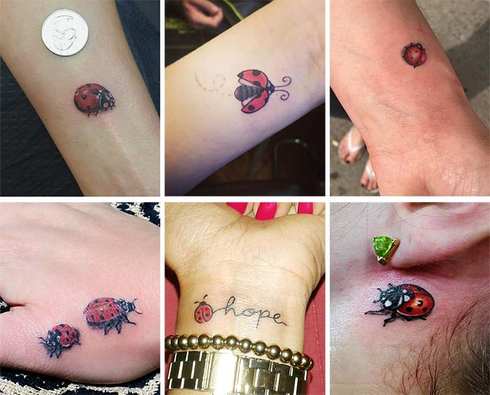 vaquitas de San Antonio tatuadas en brazo y antebrazos
