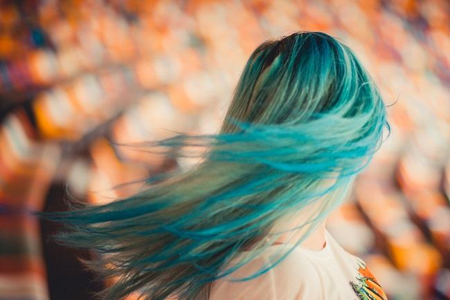tono verde para el cabello