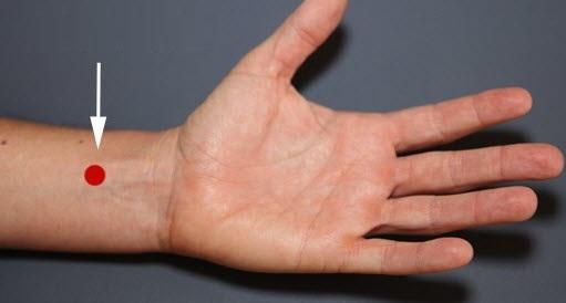 punto de acupuntura detener el vómito