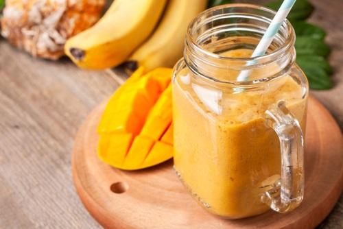 Batido banana y mango