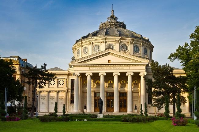 El Ateneo Romano, una sala de conciertos que es un símbolo de Bucarest.