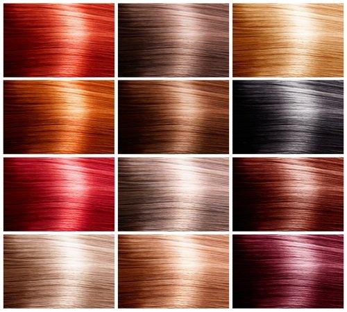 Diferentes colores de tintes para el pelo