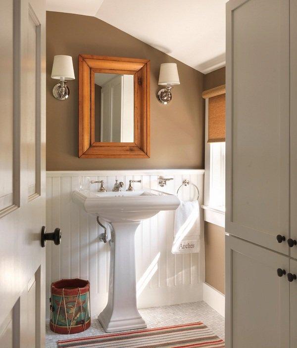 baños modernos con estilo Americano