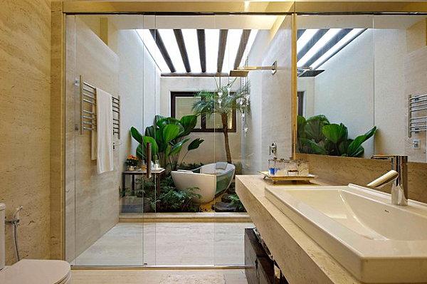Un baño con muy buena calidad de luz