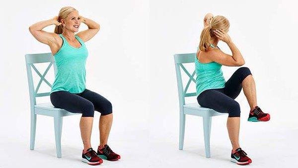 5 ejercicios con silla que reducen la grasa de la panza rápidamente