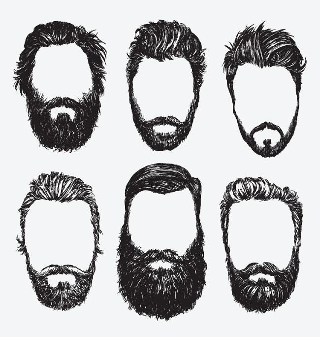 Gráfico con los diferentes estilos de barba para el hombre