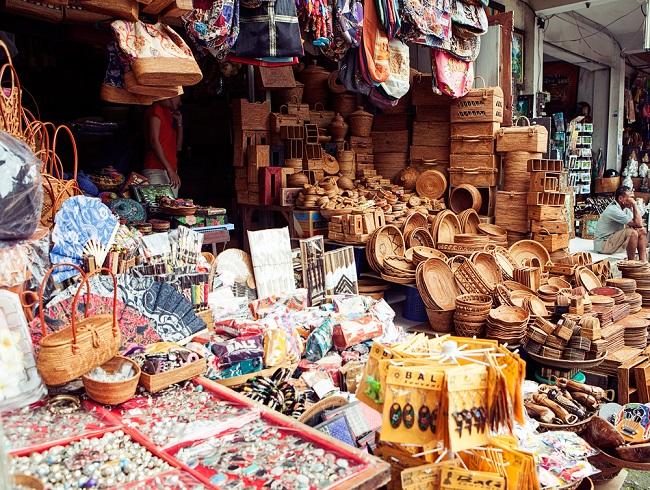 El mercado de arte de Ubud