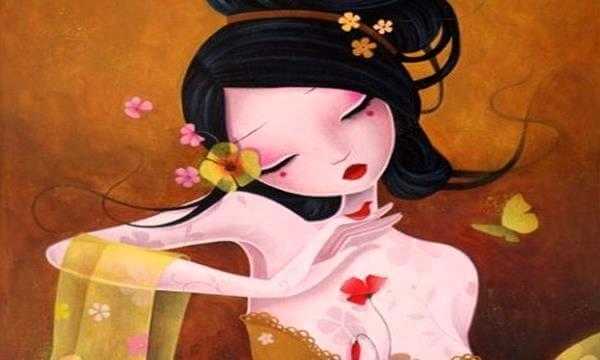 Mujer japonesa ilustración