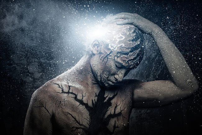 Ilustración de la energía perdida en una persona