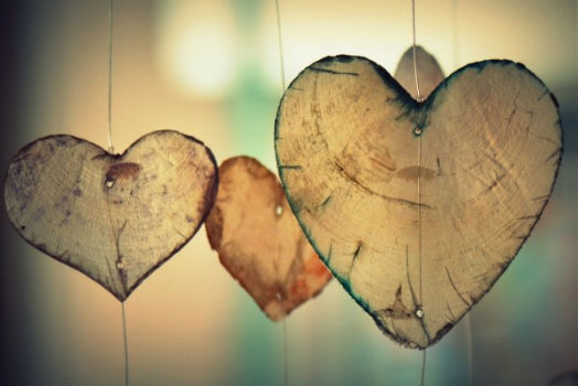 símbolos de corazones
