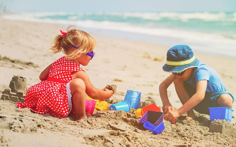 Playa las perlas en Cancún, un lugar para los niños