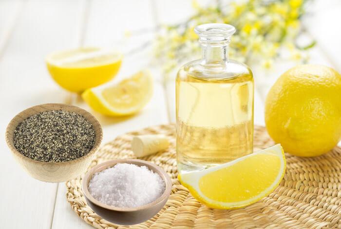 aliviar problemas de salud con limón, sal y pimienta