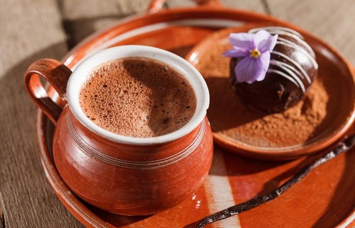 chocolate caliente para el estrés y la ansiedad