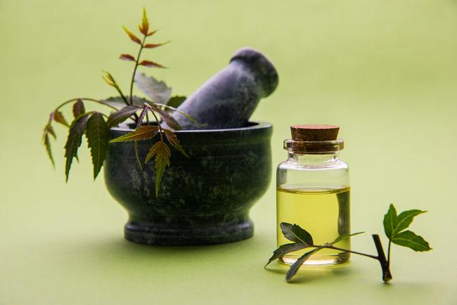 El aceite de Neem es un poderoso aceite para combatir arrugas