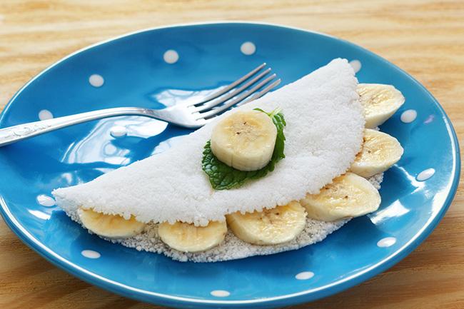 Receta con harina de mandioca y plátanos