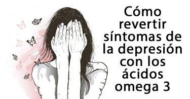 Mujer con trastornos depresivos que necesita aciados omega 3 para sanarse - Ilustración