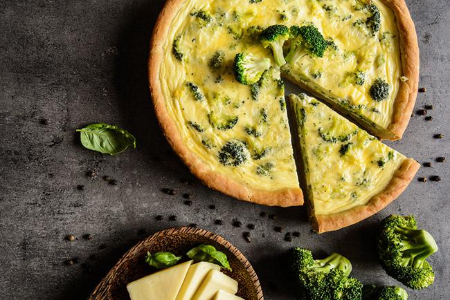 Delicioso pastel de brócoli para veganos