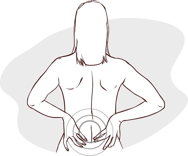 dolor en la espalda por mal funcionamiento de rinones