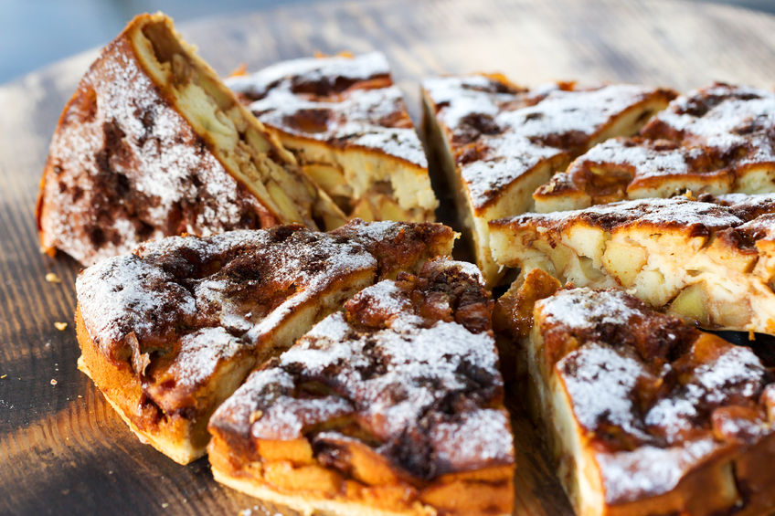 Receta de una Tarta de Manzana con Chocolate