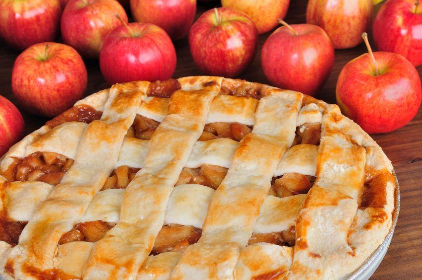 Una receta sabrosa de tarta de manzana casera