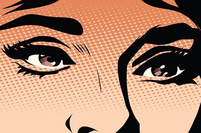 dejar ir el pasado con la mirada de mujer ilustración