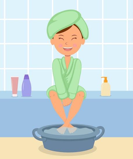 depurar el cuerpo con baño de pies ilustración
