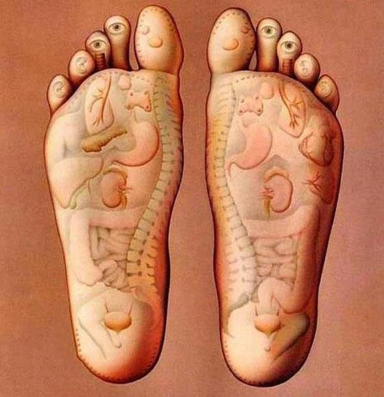 depurar el cuerpo por medio de los pies