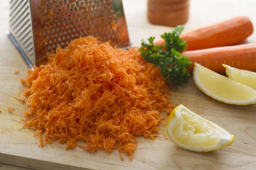 Zanahorias ralladas para eliminar los parásitos intestinales