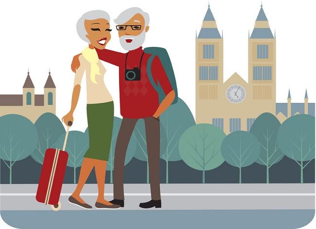 matrimonio alegre ilustración