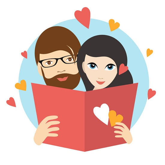 matrimonio feliz ilustración