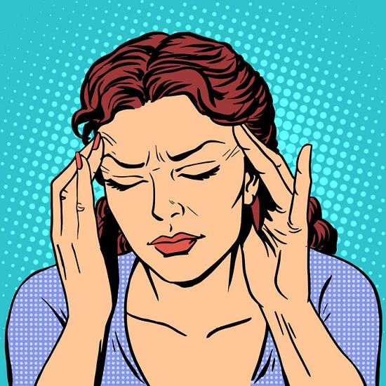 mujer con demasiado estrés ilustración