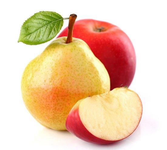 pérdida de grasa con manzanas y peras