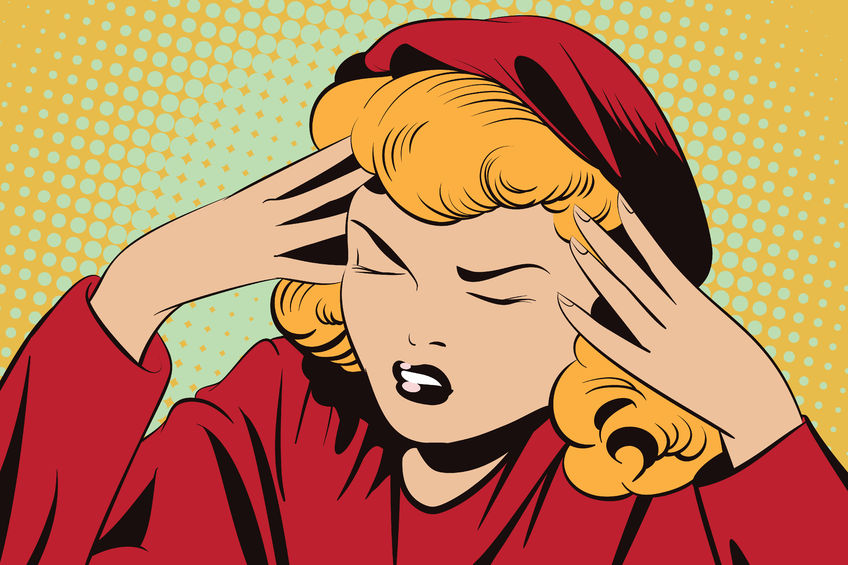 Una mujer con mucha carga de estrés