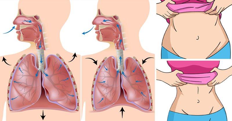 técnica de respiración profunda para perder grasa del vientre