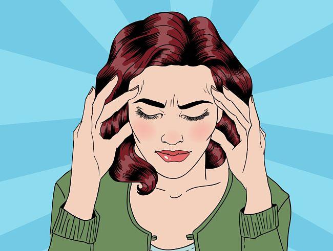 Mujer estresada por quejarse todo el día