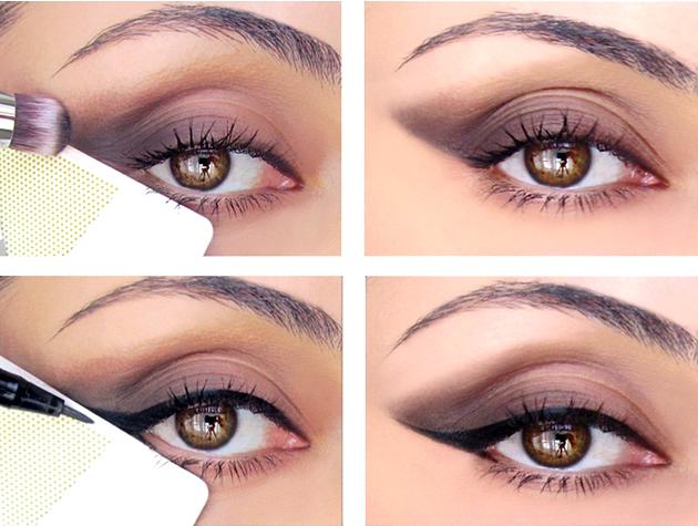trucos fáciles para pintar la raya de los ojos