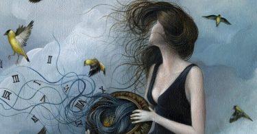 Mujer liberando sus pensamientos