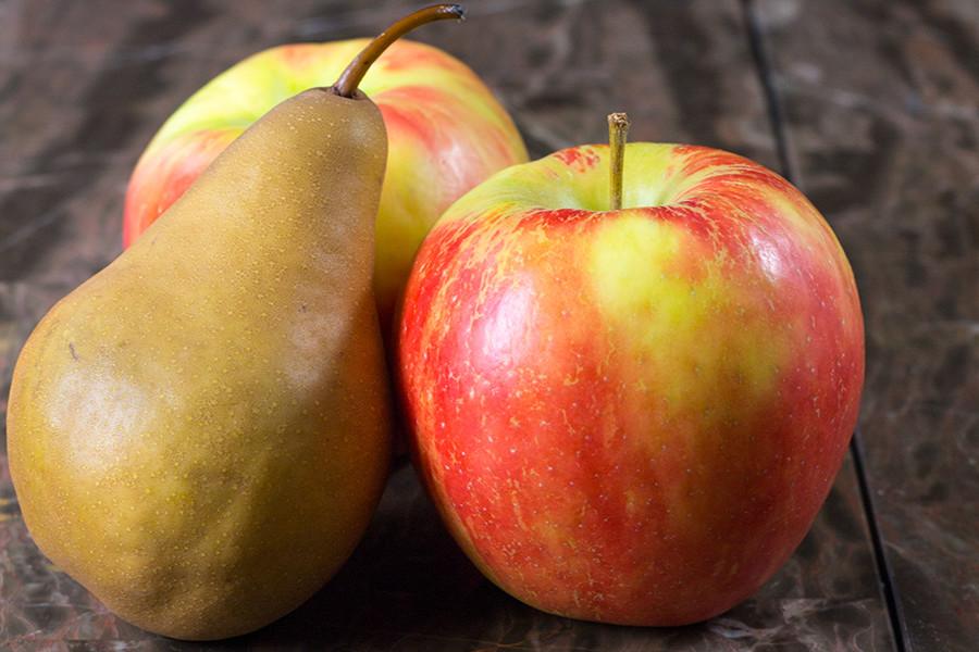 manzanas y peras para problemas gastrointestinales
