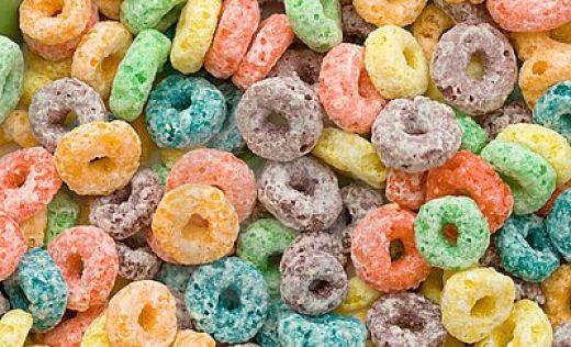 cereales con colorantes