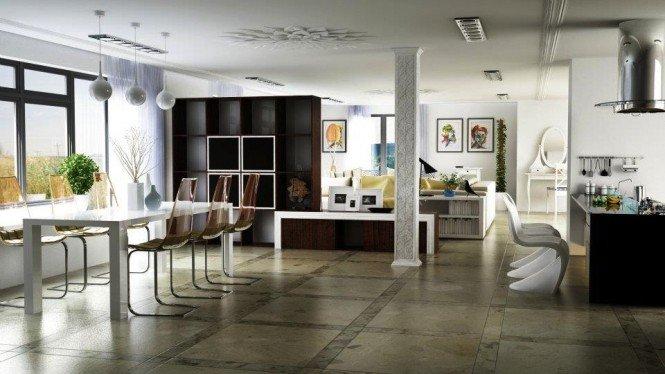 espacios abiertos en casa habitación de bajo costo