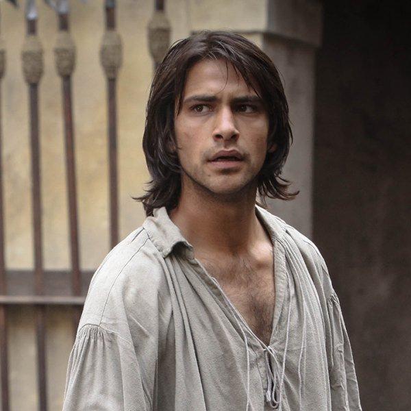 D'Artagnan hombre que atrae a la mujer
