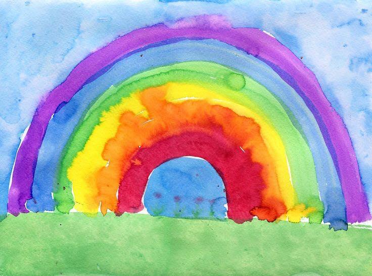 arteterapia dibujar arcoiris