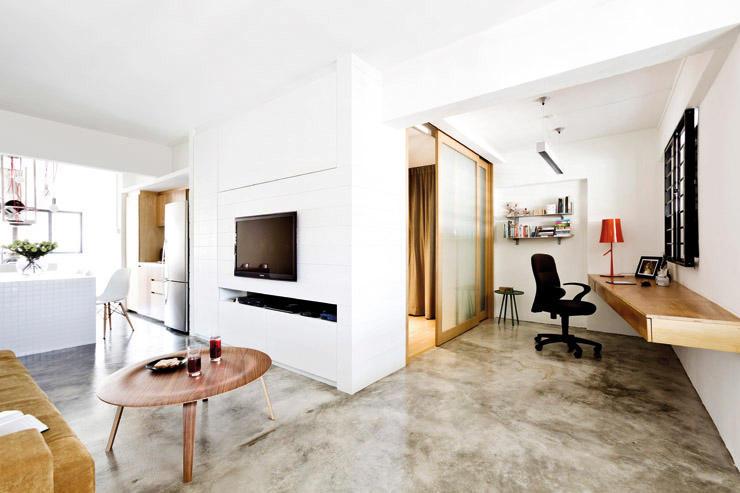 buena energía percibida en un espacio minimalista promovido por el feng shui