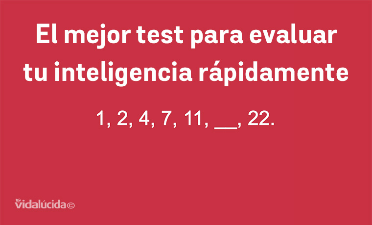 test para evluar la inteligencia de manera rápida
