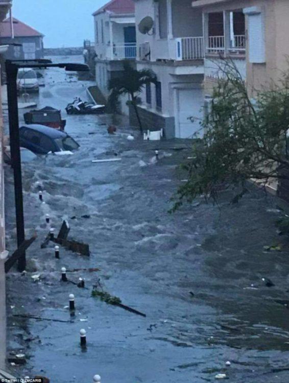 inundaciones prvocadas por el huracán irma devastaron la isla de san martín