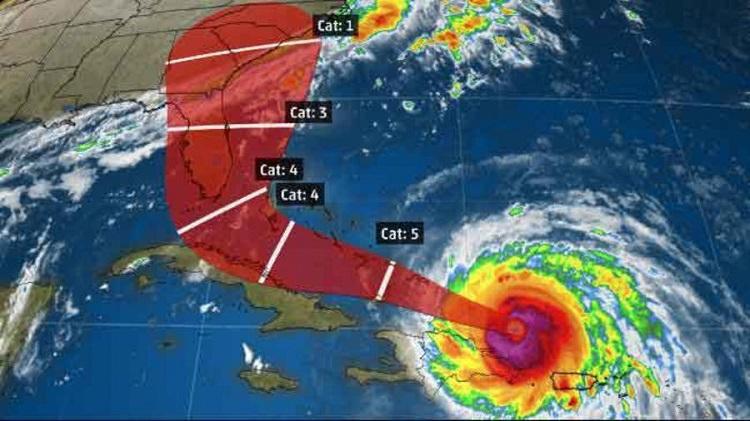 ruta del huracán Irma dirigiéndose a Florida