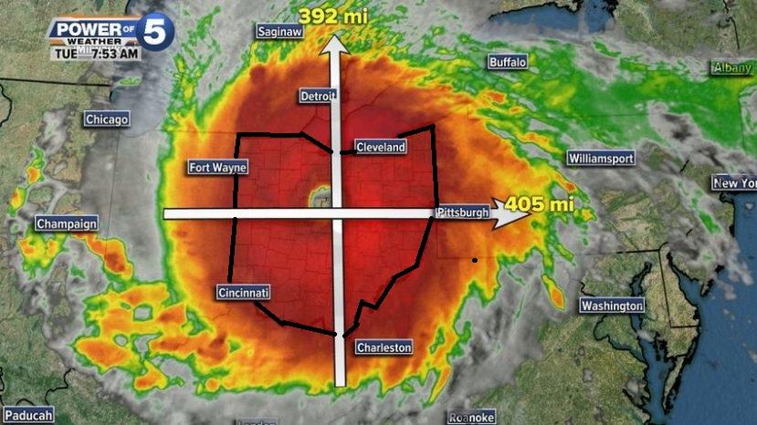 huracán irma dimensión