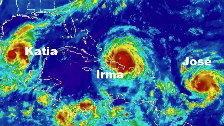 huracanes irma katia y josé
