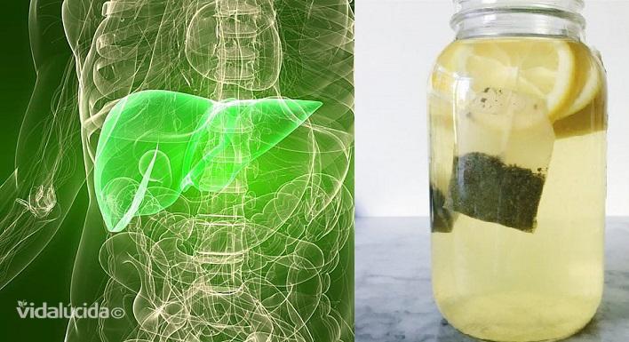 Té Verde Con Limón Para Limpiar Hígado Y Riñones